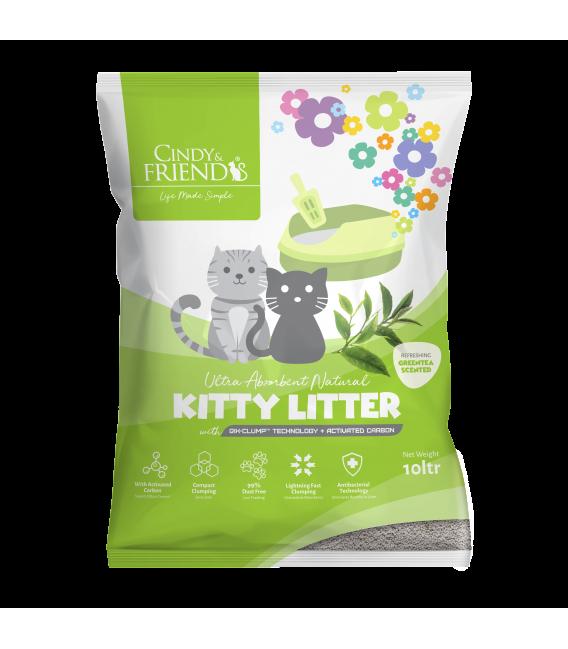 Cindy & Friends Ultra Absorbent Natural Green Tea 10L Cat Litter