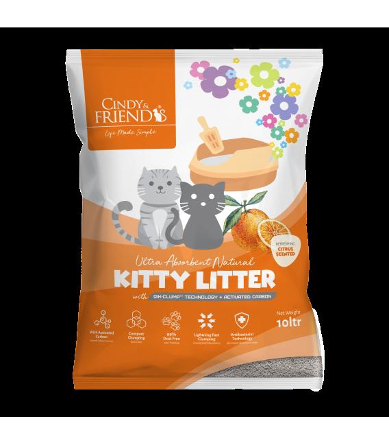 Cindy & Friends Ultra Absorbent Natural Citrus 10L Cat Litter
