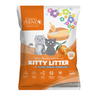 Cindy & Friends Ultra Absorbent Natural Citrus 10L Cat Litter