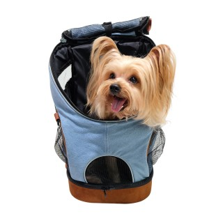 Ibiyaya Denim Fun Lightweight Backpack Pet Carrier
