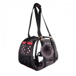 Ibiyaya Transparent Black Hardshell Travel Pet Carrier