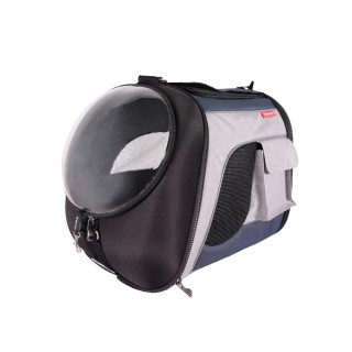 Ibiyaya Transparent Navy Gray Airline Explorer Pet Carrier