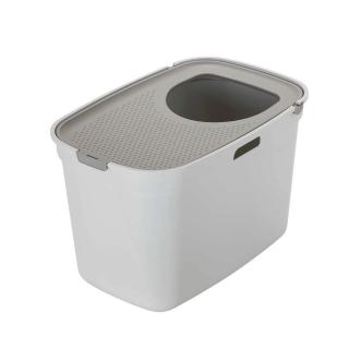 Moderna Top Cat Warm Grey Lid Closed Cat Litter Box