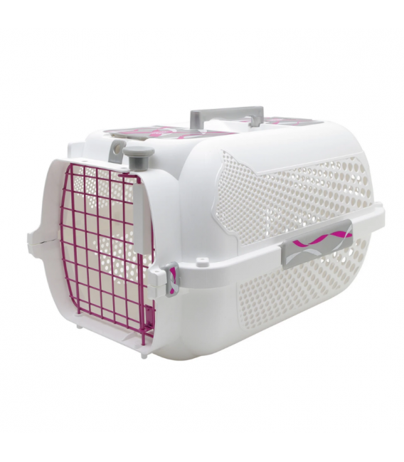 Catit Voyageur White Ribbon Small Pet Carrier