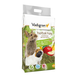 Vadigran Herbal Apple and Banana Fruit 500g Small Pet Hay