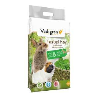 Vadigran Herbal Mint and Parsley 500g Small Pet Hay
