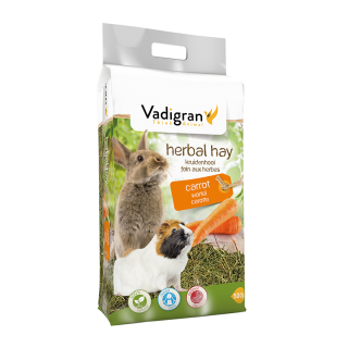 Vadigran Herbal Carrot 500g Small Pet Hay