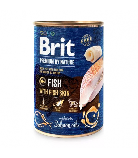 Brit Pate Fish with Skin 400g Dog Wet Food