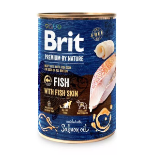 Brit Premium by Nature Fish with Fish Skin 400g Dog Wet Food