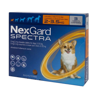NexGard Spectra Chewable Tablet Dog Dewormer (3 tablets)