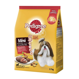 Pedigree Mini Beef Lamb and Vegetable 2.7kg Dog Dry Food
