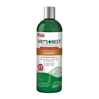 Vet's Best Advanced Strength Flea + Tick 354ml Dog Shampoo