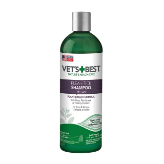 Vet's Best Flea + Tick 354ml Cat Shampoo