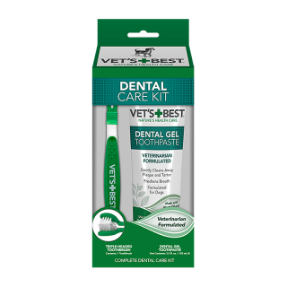 Vet's Best Dental Care Kit 103ml Dog Toothpaste + Dog Toothbrush