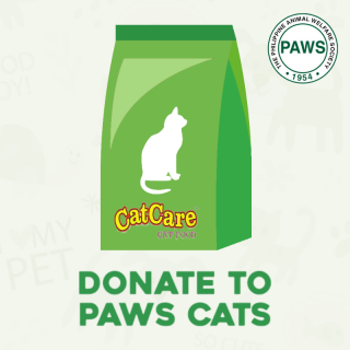DONATE TO PAWS - 1 bag of Cat Food