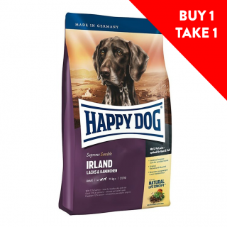 BUY 1 TAKE 1 Happy Dog Supreme Sensible Irland (Ireland) Salmon & Rabbit 4kg Dog Dry Food