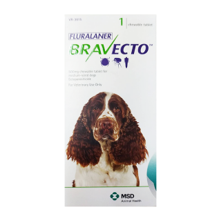 Bravecto Flea and Tick Chewable Dog Tablet