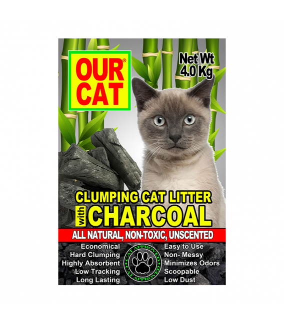 Our Cat Charcoal Cat Litter