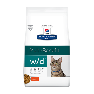 Hill's Prescription Diet Feline Multi-Benefit w/d with Chicken 1.5kg Cat Dry Food