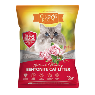 Cindy's Recipe Natural Clumping Bentonite Rose 10L Cat Litter