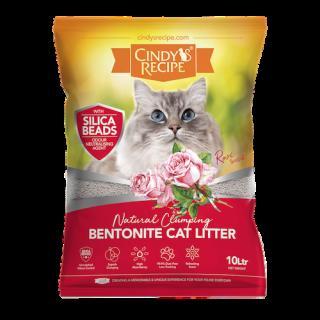 Cindy's Recipe Natural Clumping Bentonite Rose 10L Cat Litter