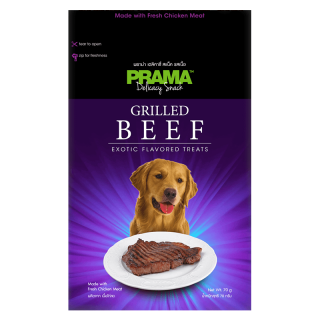 Prama Delicacy Snack Grilled Beef 70g Dog Treats
