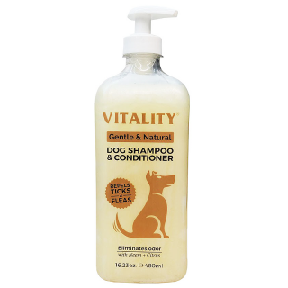 Vitality Gentle and Natural 480ml Dog Shampoo & Conditioner