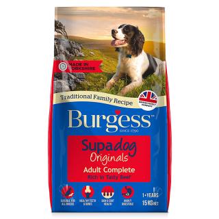 Burgess Supadog Beef 15kg Dog Dry Food