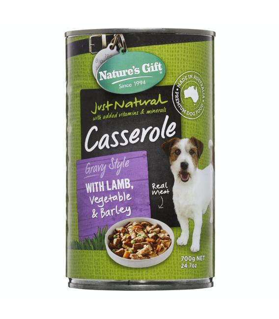 Natures's Gift Casserole Gravy Style Lamb, Vegetable & Barley 700g Dog Wet Food
