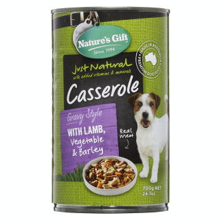 Natures's Gift Casserole Gravy Style Lamb, Vegetable & Barley 700g Dog Wet Food