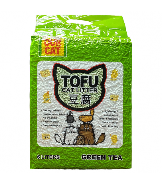 Our Cat Tofu Green Tea 6L Cat Litter