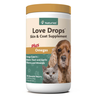 NaturVet Love Drops Skin & Coat Supplement 520g Dog & Cat Supplement