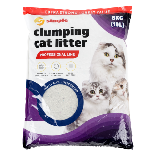 Simple Multicat Unscented Clumping Cat Litter 10L (8kg)