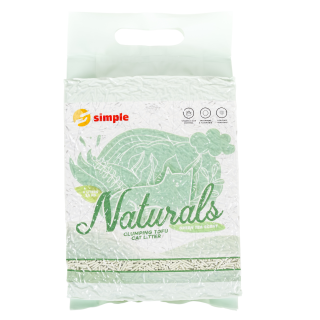 Simple Naturals Tofu with Green Tea Clumping Cat Litter 10L (8kg)
