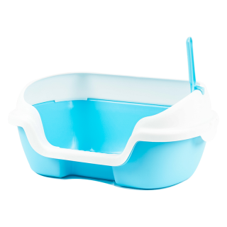 Simple Small Open-Top Cat Litter Box with Scoop