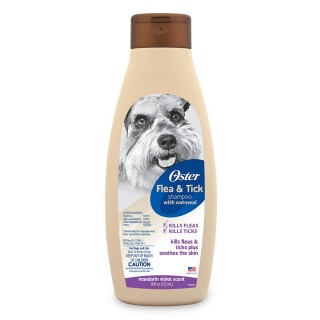 Oster Oatmeal Natural Flea & Tick Mandarin Shampoo 532ml Dog Shampoo