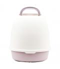 Simple Light Purple Flip Top Enclosed Cat Litter Box