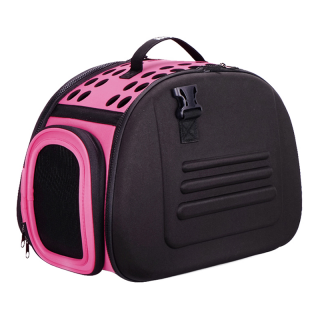 Ibiyaya Pink Collapsible Shoulder Pet Carrier