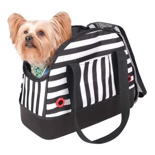 Ibiyaya Black Audrey Hop-in Bowling Bag Pet Carrier
