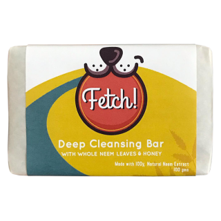 Fetch Deep Cleansing Bar with Whole Neem Leaves & Honey 100g Pet Soap