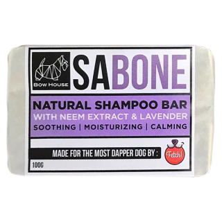 Fetch x BowHouse Sabone with Neem Extract & Lavender 100g Shampoo Bar