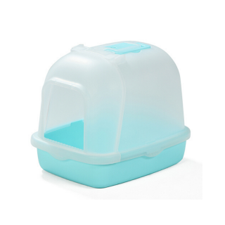 Crystal Series Covered Blue Litter Pan and Scoop