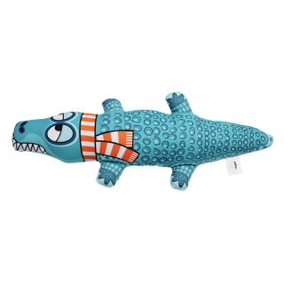 GUGUpet Crococile Blue Dog Toy