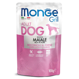 Monge Grill Chunkies with Pork 100g Dog Wet Food