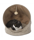 GUGUpet Plaid Brown Foldable Pet Bed