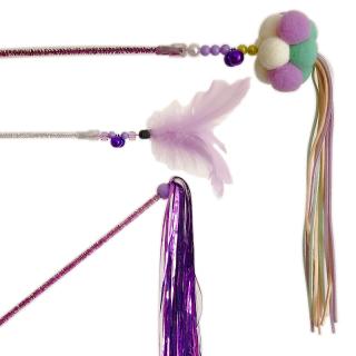 GUGUpet Korean Fairy Tassels Purple 3-in-1 Set Cat Teaser