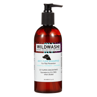 WildWash Pro Anti Flea 300ml Pet Shampoo