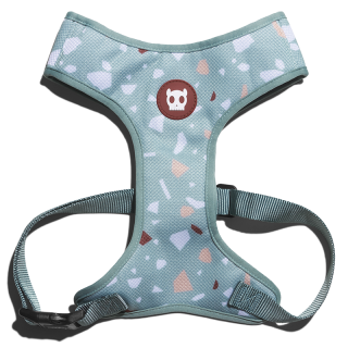 Zee.Dog Terrazo Green Dog Air Mesh Plus Harness