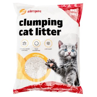 Simple Clumping Cat Litter 10L (8kg)