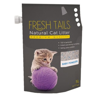 Fresh Tails Natural Cat Litter Baby Powder 4.17kg (5L) Cat Litter